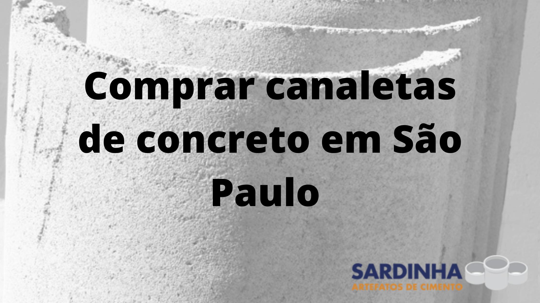 Comprar canaletas de concreto em São Paulo